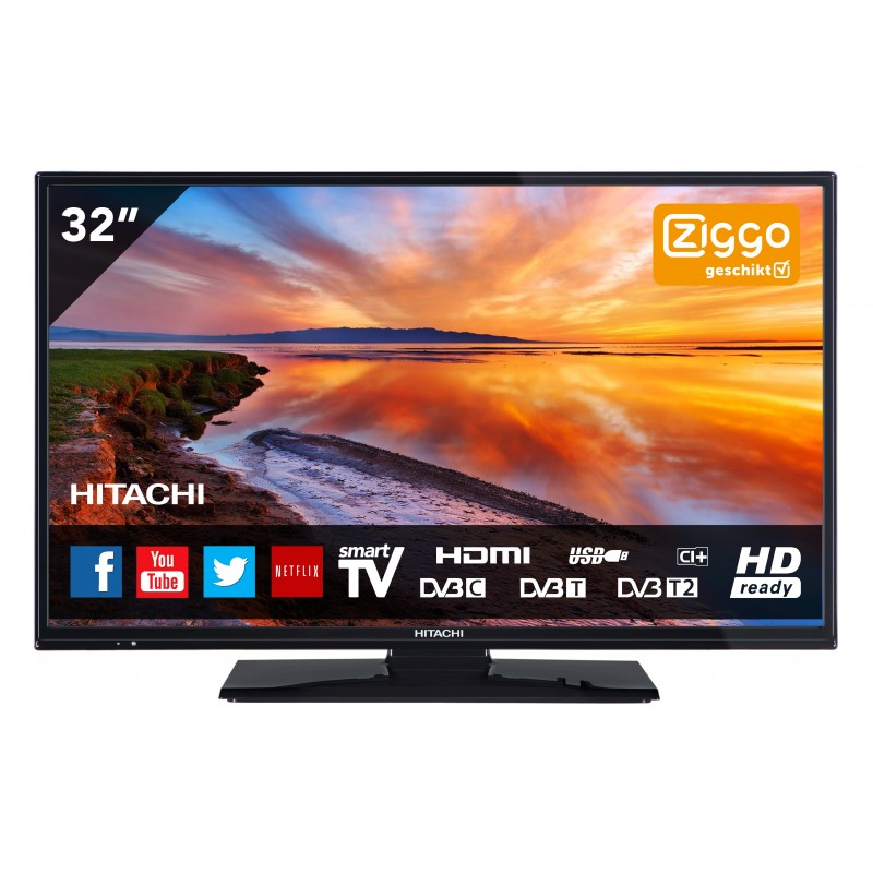 32 inch 82 cm led smart tv hitachi. Black Bedroom Furniture Sets. Home Design Ideas