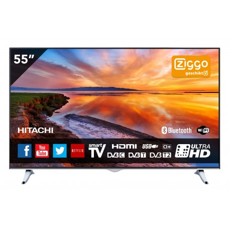 55 inch 140 cm 4k ultra hd smart tv met ingebouwde wi fi hitachi. Black Bedroom Furniture Sets. Home Design Ideas