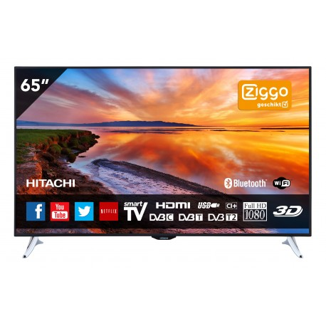 65 inch 165 cm full hd 3d smart tv met ingebouwde wi fi hitachi. Black Bedroom Furniture Sets. Home Design Ideas